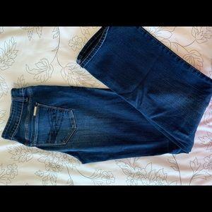 White House Black Market dark boot cut jeans